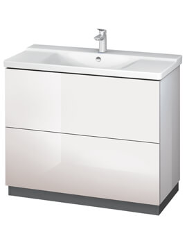 Duravit L-Cube 1020mm White High Gloss Floor Standing Vanity Unit With Plinth Panel