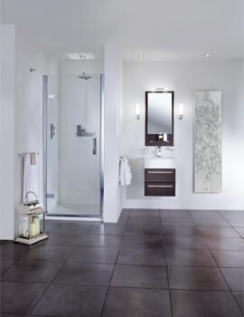Spectra SP455 760mm Wide Hinged Shower Door For Recess