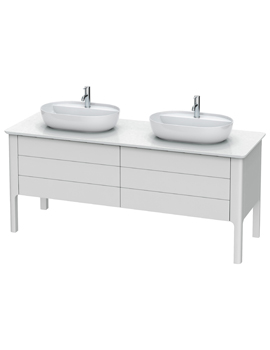 Luv 1783 x 570mm 2 Compartment And 2 Drawer Vanity Unit