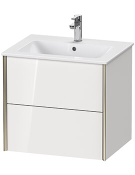 XViu 2 Drawer Wall-mounted Vanity Unit With ME By Starck Basin