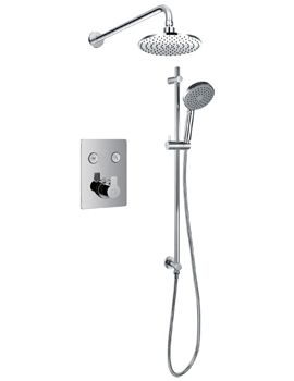 Spring Thermostatic Goclick 2 Button Concealed Shower Pack