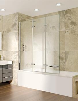 Spectra SP493 1300mm Wide Triple Panel Bath Screen