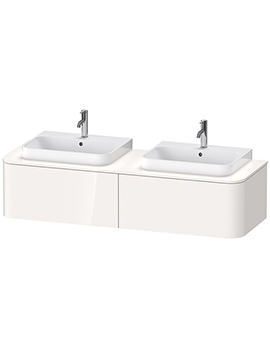 Happy D.2 Plus 1600mm Vanity Unit With 2 Pull-Out Compartment For Two Basin