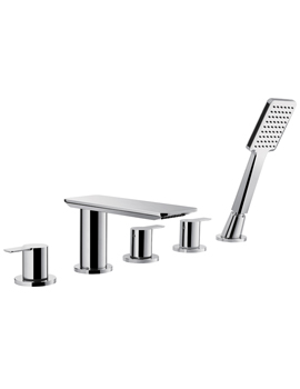 Spring 5 Hole Bath And Shower Mixer Tap With Shower Set