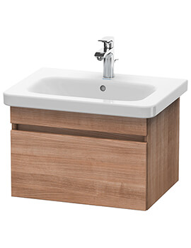 DuraStyle 580mm Natural Walnut Vanity Unit With 650mm Basin