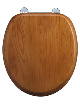Burlington Soft Close Oak Seat For Toilet