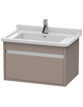 Ketho 800 x 465mm Wall Mounted 1 Pull Out Compartment Vanity Unit