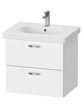 XBase 2 Drawer Vanity Unit For D-Code Basin