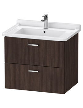 XBase 2 Drawer Wall Mounted Vanity Unit For Starck 3 Basin