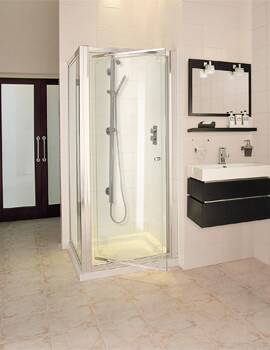 Exclusive ES245 Pivot Door Corner Shower Enclosure 760 x 760mm
