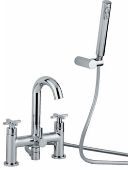 Serenitie Deck Mounted Bath Shower Mixer Tap With Shower Handset