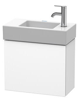 L-Cube 480 x 240mm 1 Door Vanity Unit For Me By Vero Air Basin