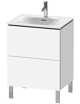L-Cube Floor Standing 2 Pull Out Compartment Vanity Unit For Viu Basin