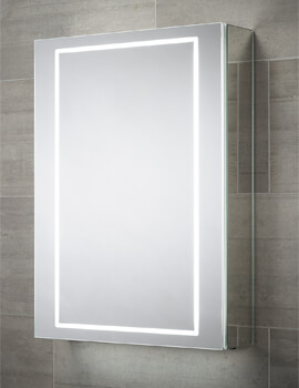 Sensio Sonnet 500 x 700mm Illuminated LED Single Door Mirror Cabinet