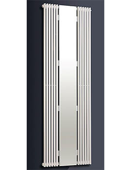 Biasi Apollonia 1800mm High Single Tube Straight Radiator With Central Mirror