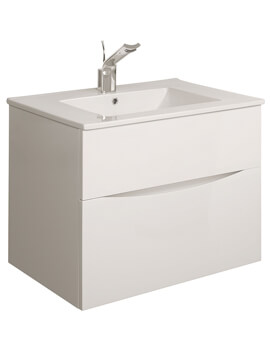 Glide II 700mm Double Drawer Vanity Unit