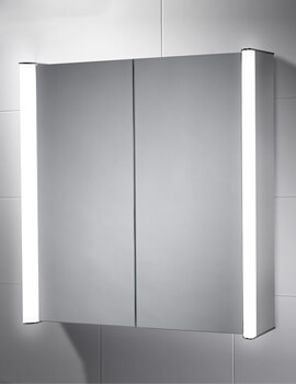 Sensio Aspen 700 x 700mm Double Cabinet Mirror LED With Diffused LED