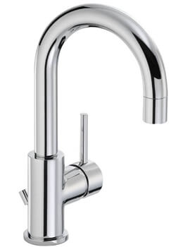 Abode Harmonie Single Lever Basin Mixer Tap With Pop Up Waste