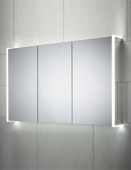 Sensio Ainsley 1200 x 700mm Single Door Diffused LED Side Strips Mirror Cabinet