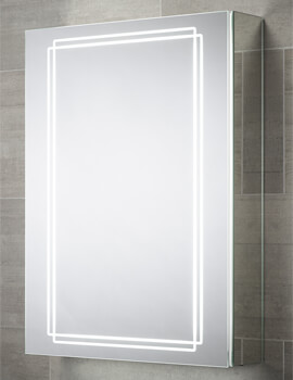 Sensio Harlow 500 x 700mm Single Door Diffused LED Dual Strips Mirror Cabinet