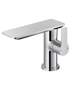 Spring Single Lever Basin Mixer Tap With Clicker Waste