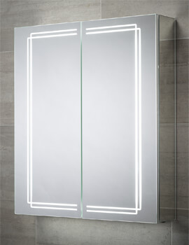 Sensio Harlow 600 x 700mm Double Door Diffused LED Dual Strips Mirror Cabinet