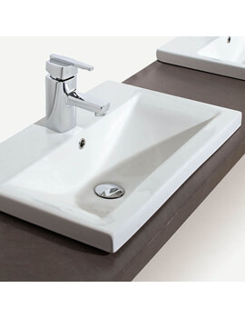 Cleaver Ceramic Inset Basin White