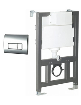 Wall Hung WC Fixing Frame With Cistern And Flush Plate