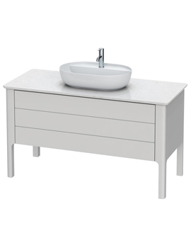 Luv 1338 x 570mm 1 Compartment And 1 Drawer Vanity Unit