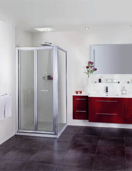 Exclusive ES265 Bi-Fold Door Corner Shower Enclosure 760 x 760mm