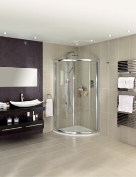 Exclusive ES350 Single Door Quadrant Shower Enclosure 900 x 900mm