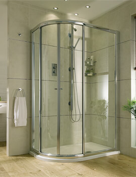 Exclusive ES360 Quadrant 550 Radius 900 x 800mm Sliding Shower Door