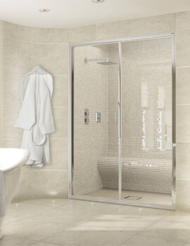 Exclusive ES300 Sliding Shower Door For Recess