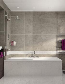 Spectra SP495 850mm Wide Single Panel Bath Screen
