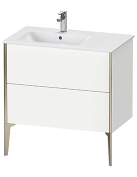 XViu 2 Pull-Out Compartment 810mm Floor-Standing Vanity Unit For ME By Starck Basin
