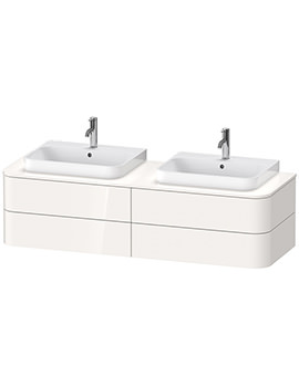 Duravit Happy D.2 Plus 1600mm Vanity Unit With 4 Drawer And 2 Cut-Outs