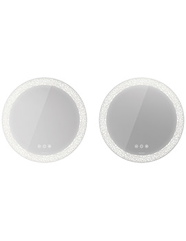 Happy D.2 Plus 700mm Mirror Set With LED Lighting - Icon Version