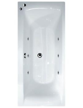 Aqua Oporto Square Rectangular Double Ended Whirlpool Bathtub - Image