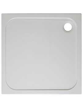 Crosswater Square 45mm Stone Resin Shower Tray
