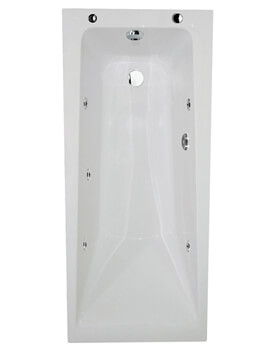 Aqua Atlanta 6 jets Whirlpool Single Ended Bath - Image