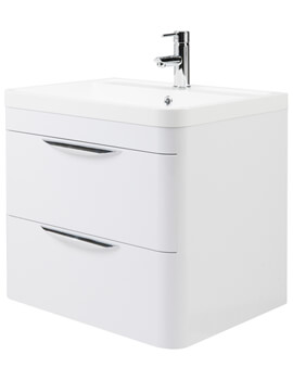 Nuie Parade 500mm High 2 Drawer Wall Hung Cabinet And Basin - Image
