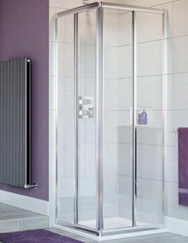 Lakes Classic Silver Frame Corner Entry Shower Cubicle 750 800 900mm