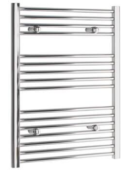 Tivolis 500mm Wide Straight Towel Warmer In Chrome Finish - Image