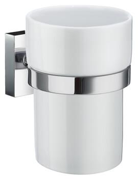 Smedbo House Holder With Porcelain Tumbler - Image