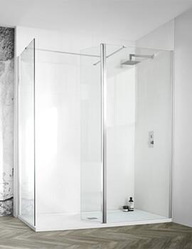 Aquadart Wetroom 8 2000mm Height Walk-In Shower Glass Panel