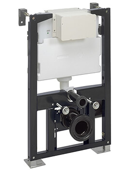 Crosswater 500mm Wide WC Support Frame With Dual Flush Cistern
