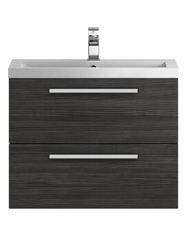 Hudson Reed Quartet 720 x 510mm Wall Hung Cabinet And Basin - Image