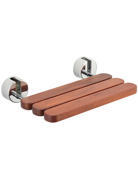 Tre Mercati Miscellaneous Folding Wooden Shower Seat - Image