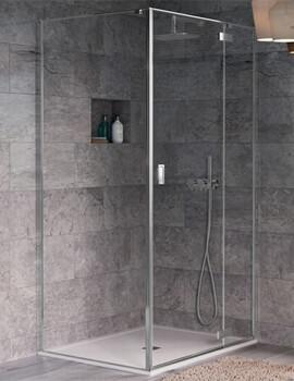 Crosswater Svelte 8 Hinged Shower Door With Inline Panel