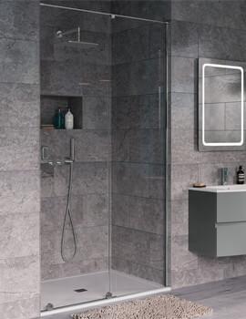 Crosswater Svelte Single Slider Shower Door 1200mm